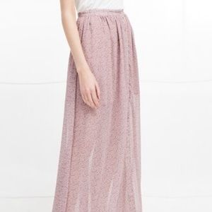 French Connection ELAO Sheer MaxI Skirt NWT/0